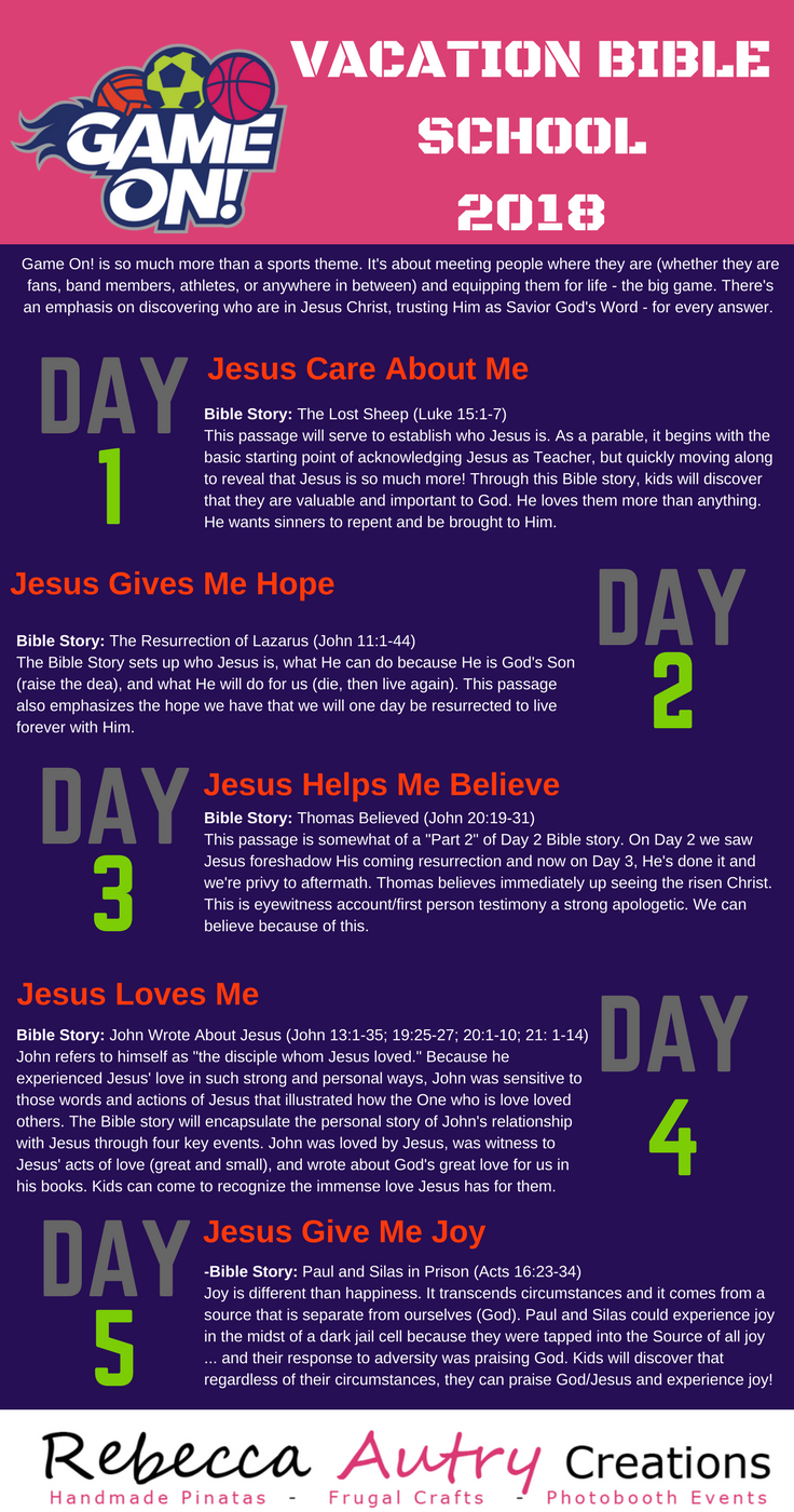 lifeway vbs 2018 game on bible study lessons overview