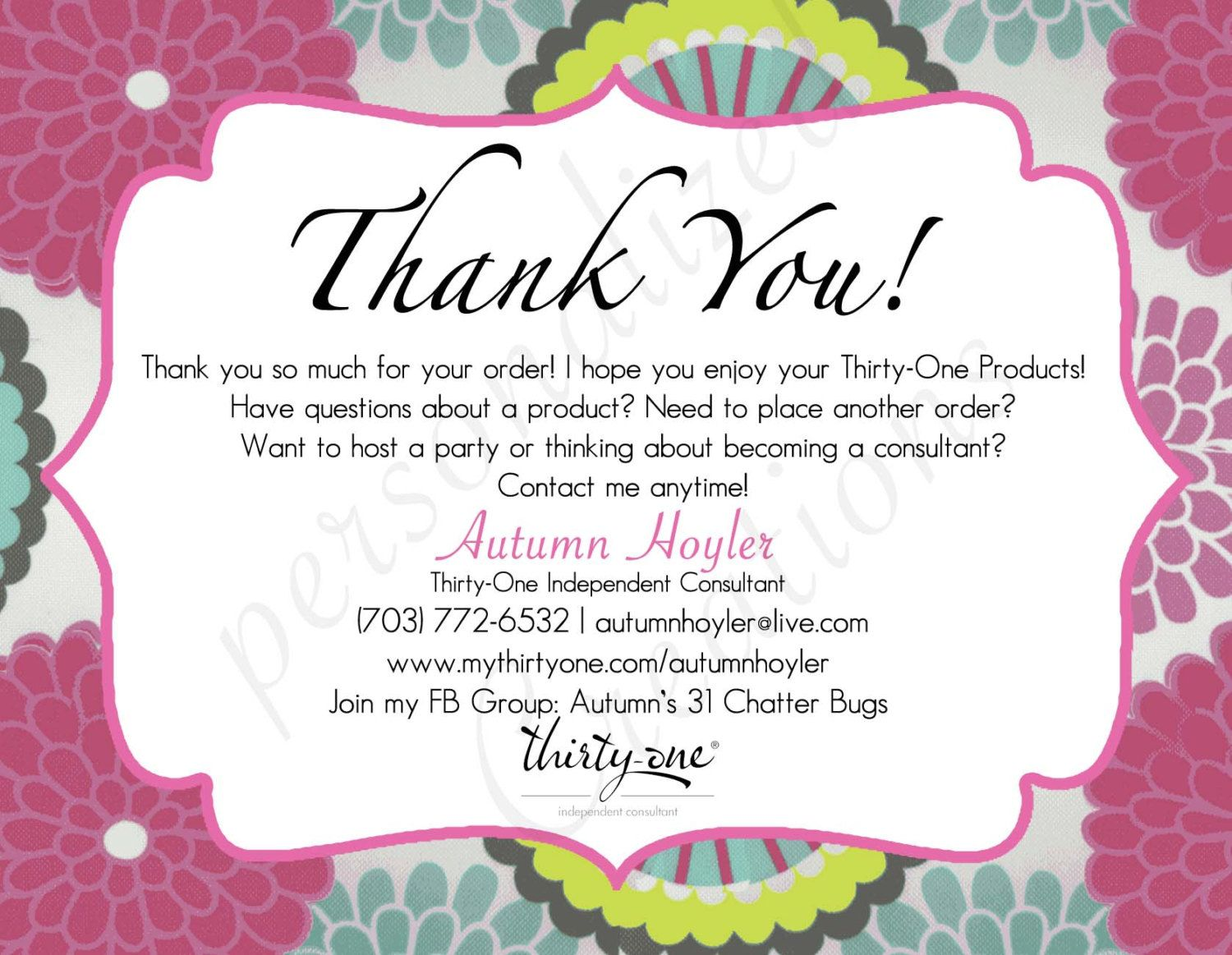 Image result for nutrimetics business cards nutrimetics tips personalized thank you cards made for thirty one gifts different prints available magicingreecefo Image collections