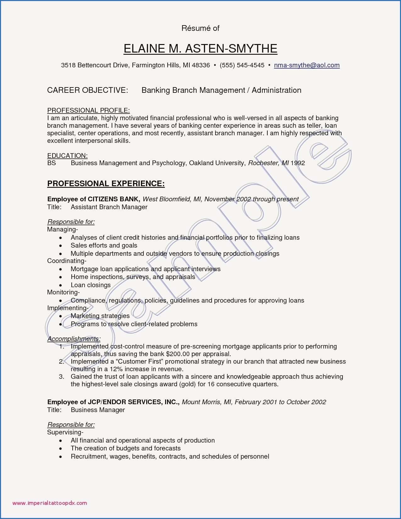 9 Sample Cv for Customer Service Supervisor Check more at