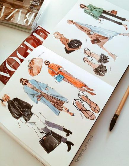 Photo of 20 Ideas For Fashion Sketches Sketchbooks Inspiration