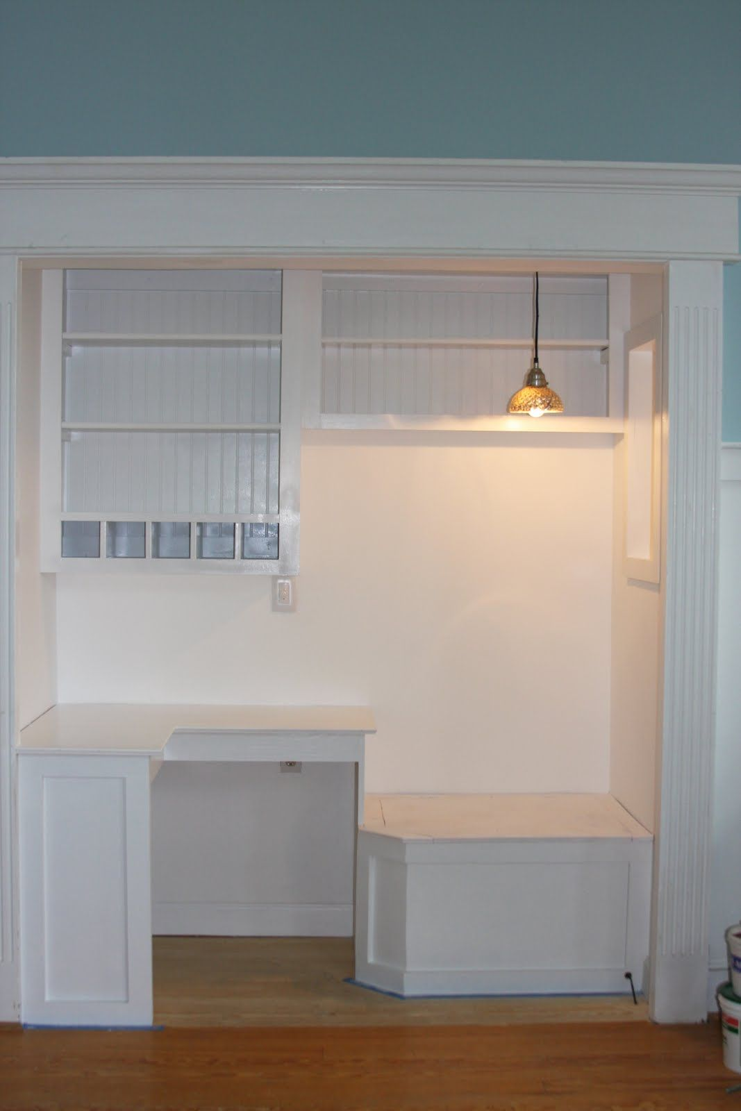Wet Bar Closet To Be Converted To A Small Computer Area