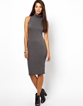 Glamorous Roll Neck Midi Dress