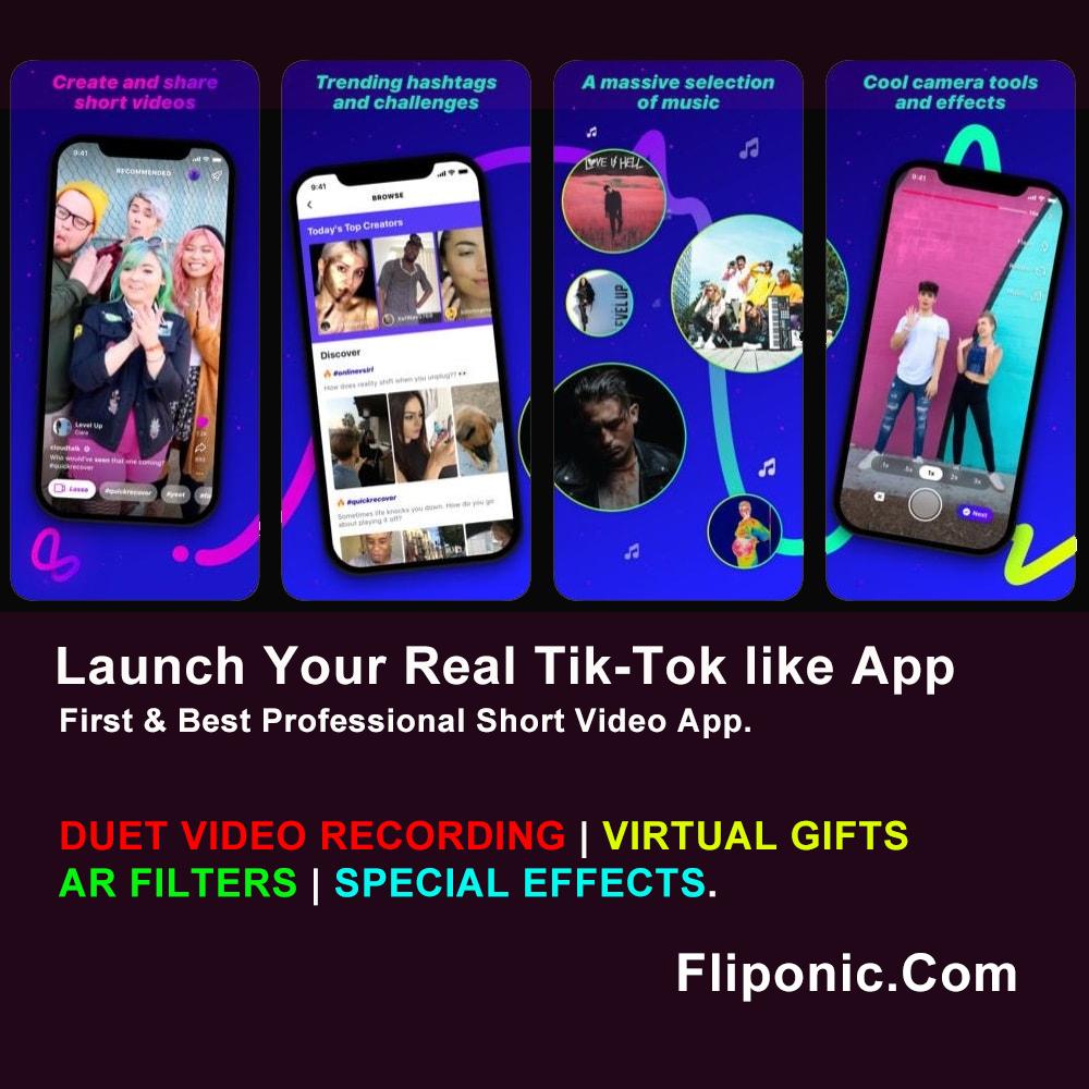 Tiktok Clone App Tiktok App Source Code Tiktok Clone Script Instagram Reels Musically Dubsmash Clone App Short Video App Sdk Periscope Vine Bigo Live Video App Coding Best Social Network