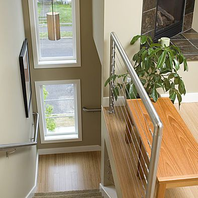 Best Stainless Steel Stair Rail Staircase Design Traditional 640 x 480