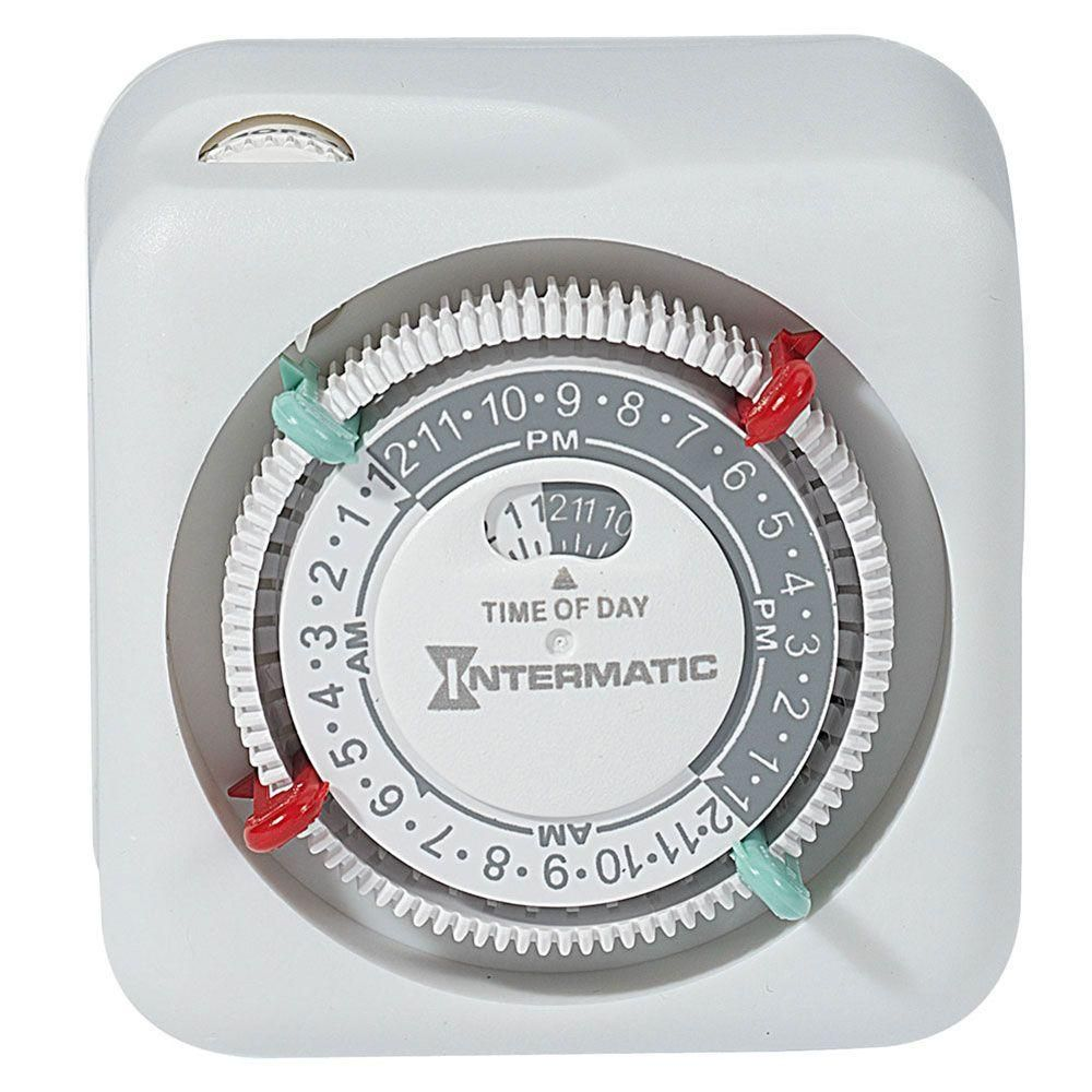15-Amp Plug-In Lamp and Appliance Timer - White, White/Plastic