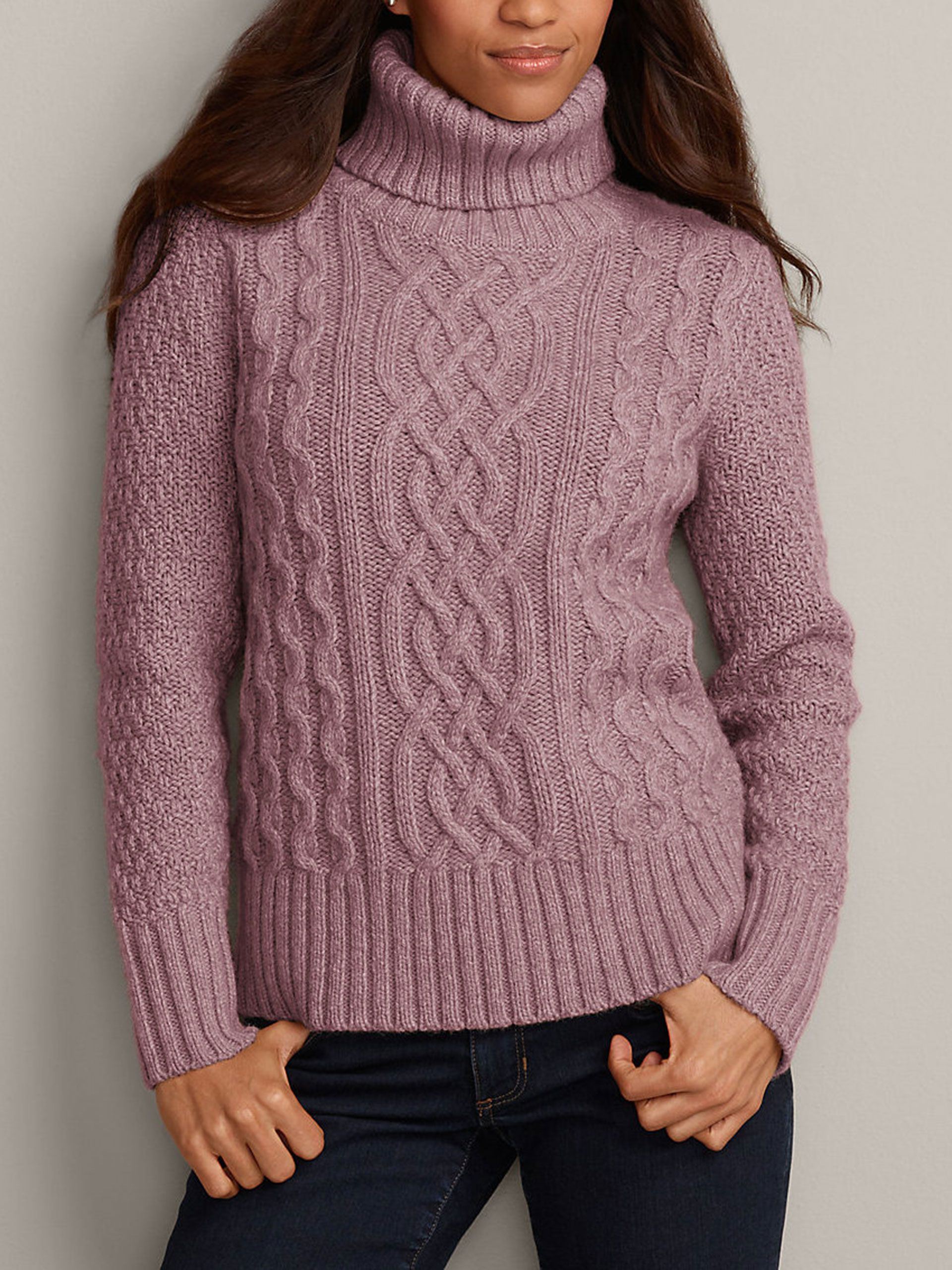 Cable turtleneck sweater, $90; Eddie Bauer. Courtesy of the Company  - Redbook.com