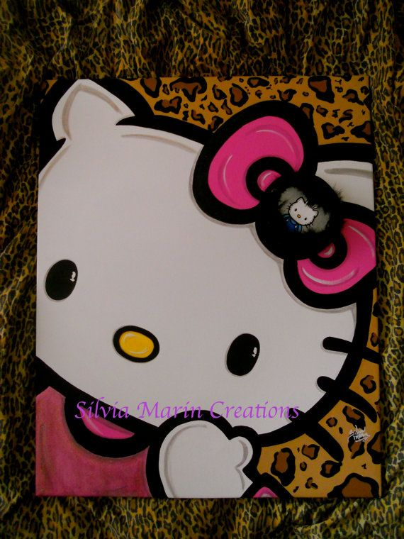 Cat Kitty Unfinished Paint by Line Kids DIY Craft for bedroom decor
