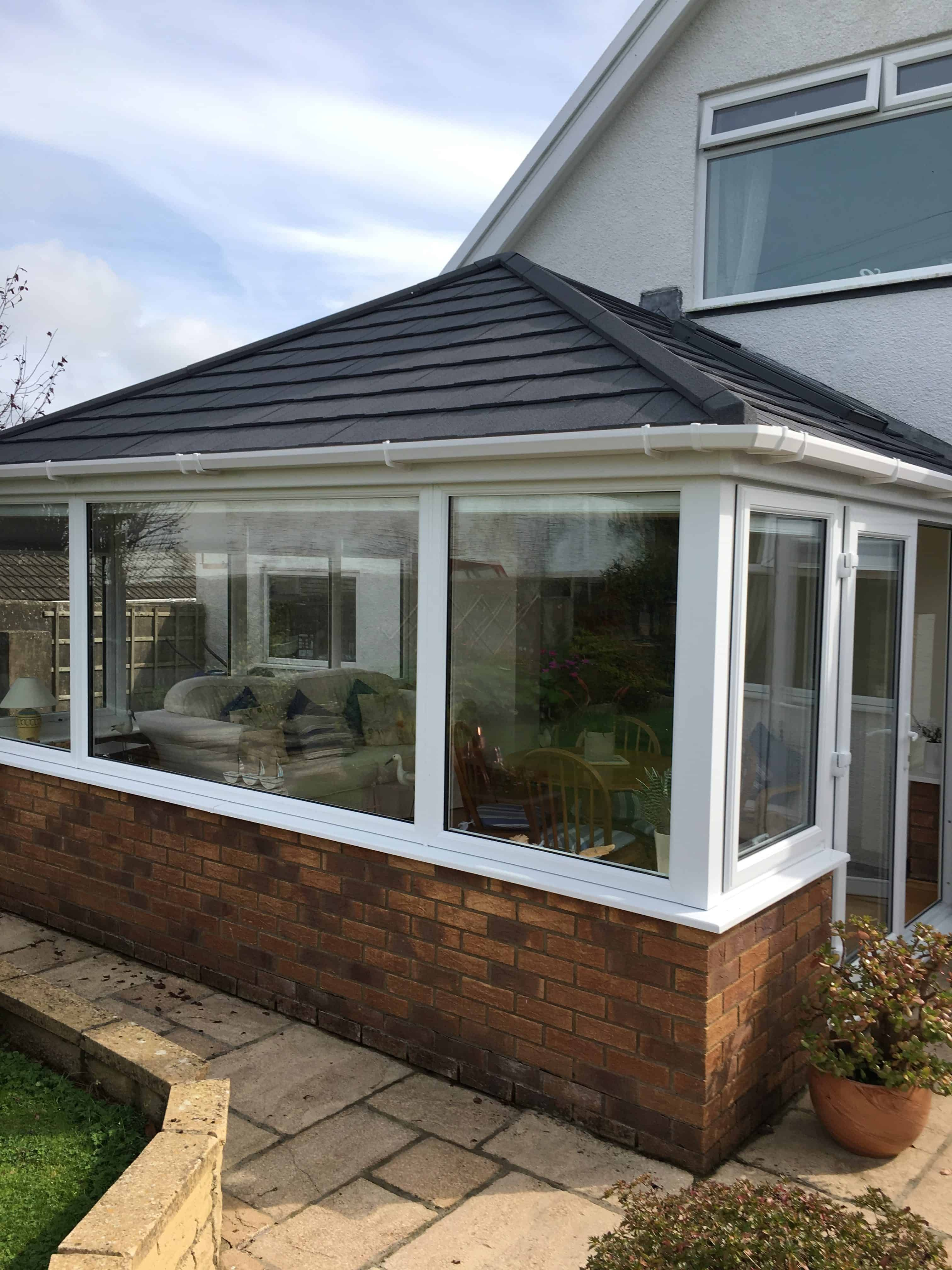 Edwardian Tiled Roof Conservatory Conversion Leka Systems Tiled Conservatory Roof Porch Design Patio Makeover