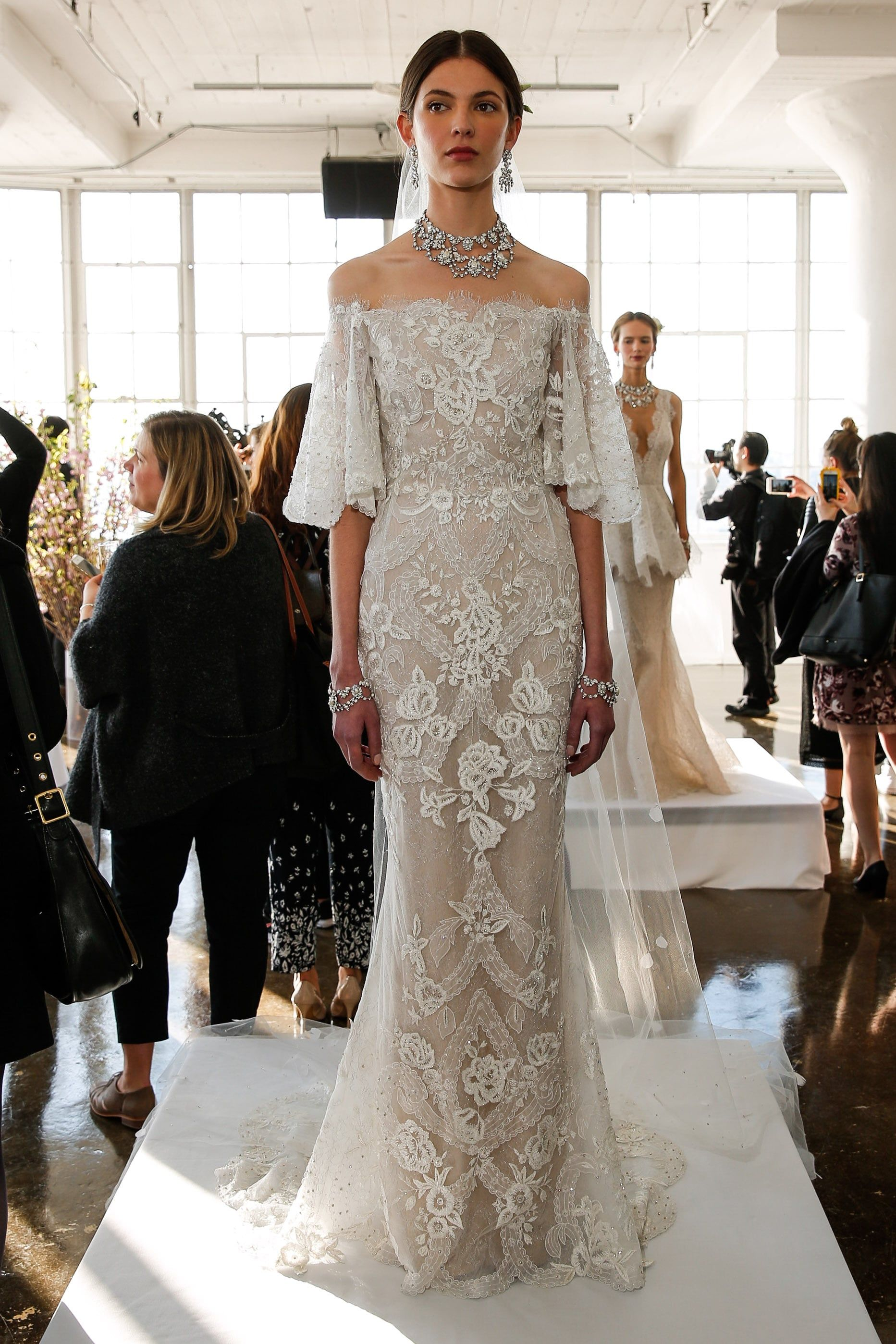 Marchesa bridal springsummer wedding bells wedding dresses