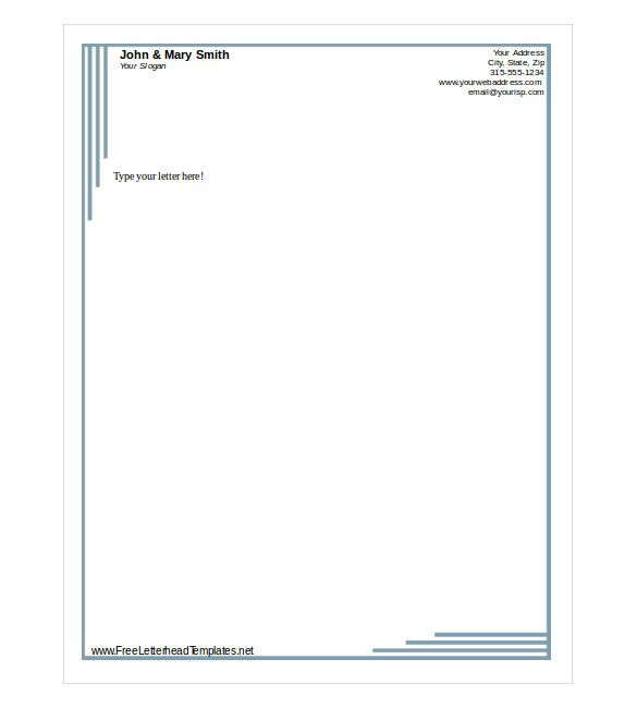 free letterhead template word pdf format download business letter ...