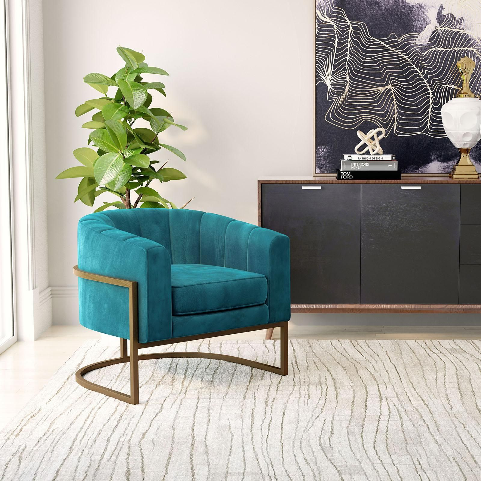 Our Plush Velvet Chair Is On Your Must Have List On Trend And Simply Sublime With A Channele Occasional Chairs Blue Occasional Chair Single Living Room Chairs #occasional #living #room #chairs