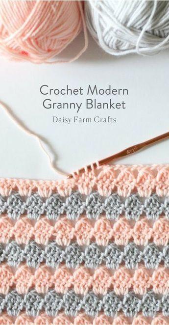 Free Pattern - Crochet Modern Granny Blanket | Häkeln | Pinterest ...