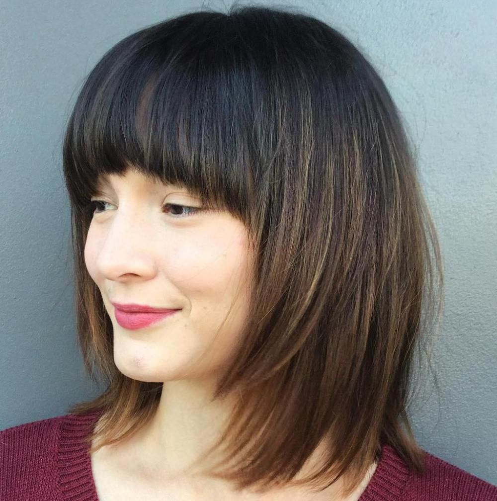 Layered Bob With Arched Bangs | Hair styles | Pinterest