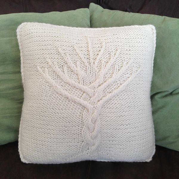 Tree of Life knit pillow cover pattern - here at last! | Knitting ...
