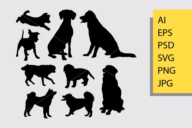 Dog Animal Silhouette Doggy Puppy Pomeranian Golden Retriever Good Use For Symbol Logo Web Icon Mascot And You Can U Animal Silhouette Animals Graphic