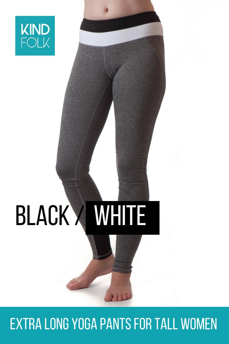 Extra Long Yoga Pants For Tall Women Black White Tall Women Yoga Pants Pants
