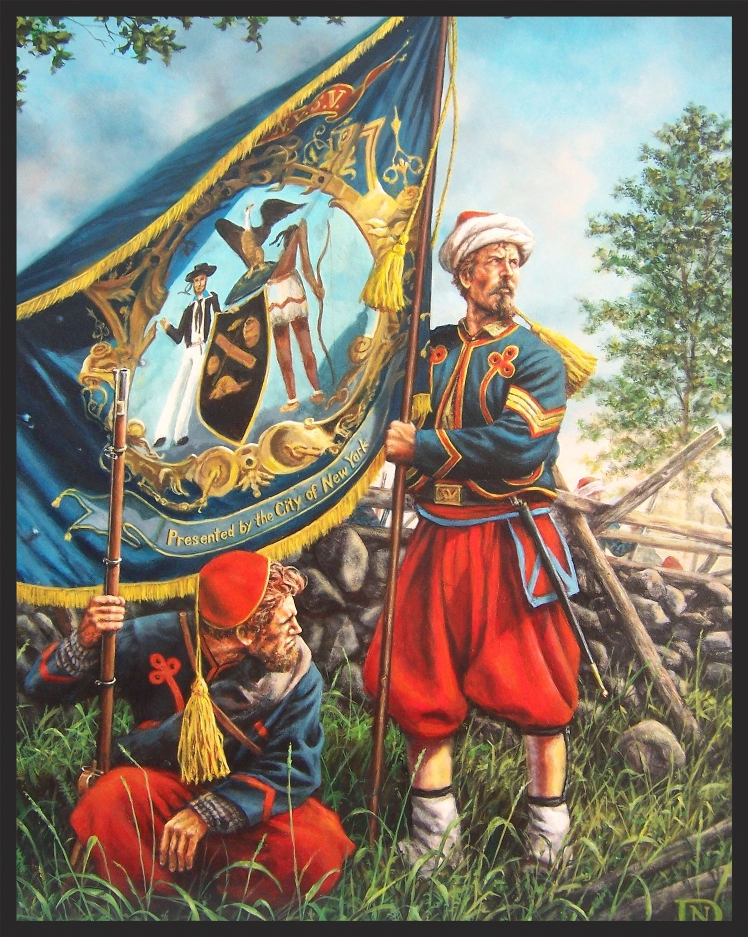 5th New York Zouaves Duryee S Zouaves Ca Print By Dan Nance