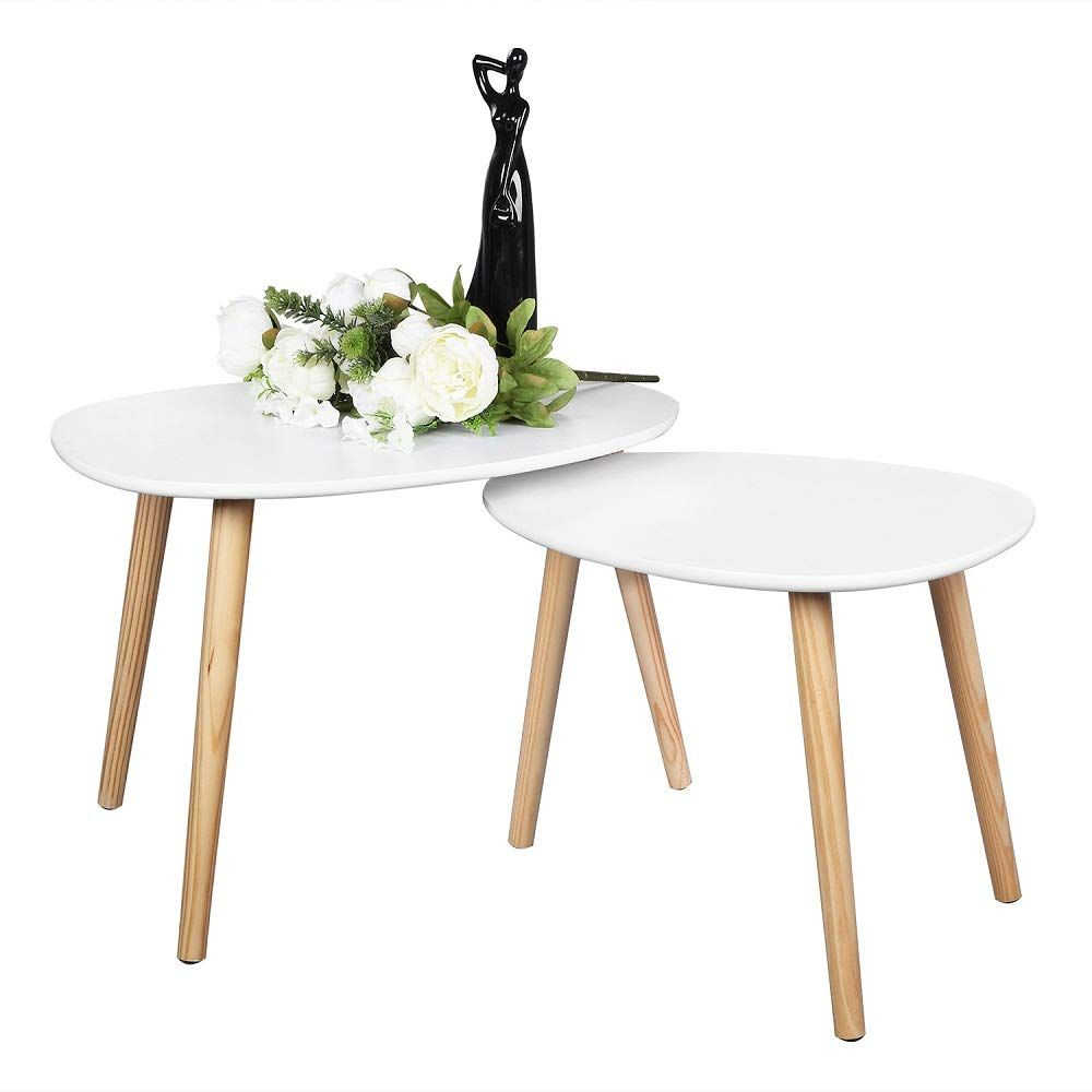 Bonnlo Nesting Tables End Tables Set Of 2 For Living Room Home