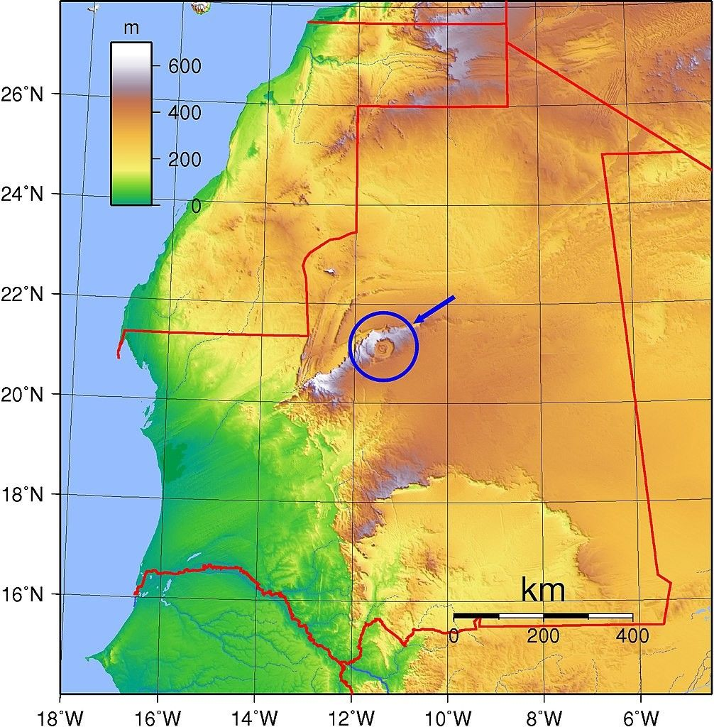 Eye Of Africa Map Richat Structure wikipedia.Also known as the Eye of Africa or
