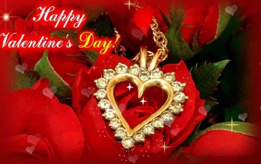 Beautiful Romantic Happy Valentines Day Greeting Ecard