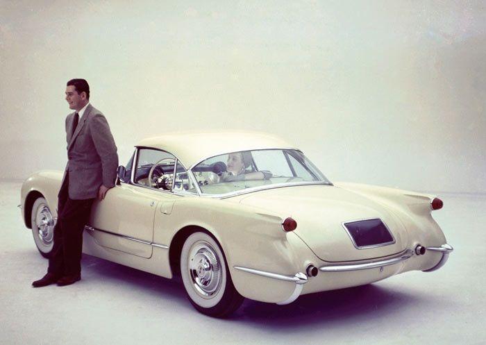 1954 Chevrolet Corvette Convertible Coupe #1950s #vintage #cars