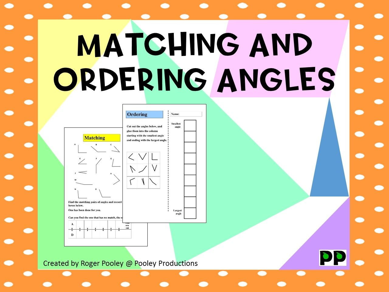Matching And Ordering Angles Answer Key Included