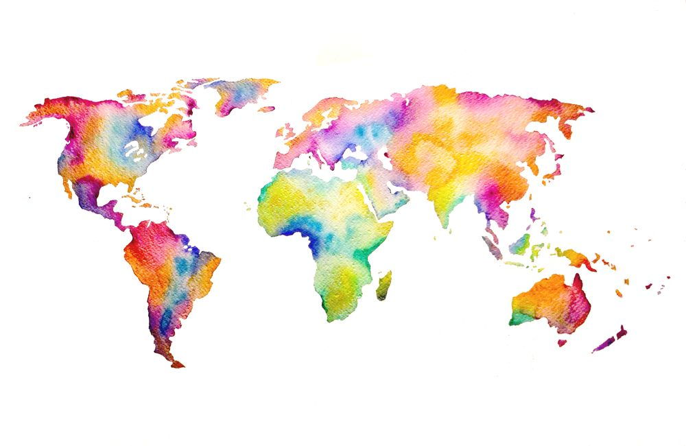 Tumblr Static Watercolor World 1000 650 Craft