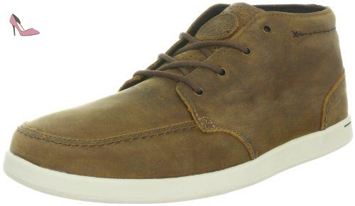 SPINIKER MID NB R3422BRO, Baskets mode homme - Marron (Brown/white), 42.5 EUReef