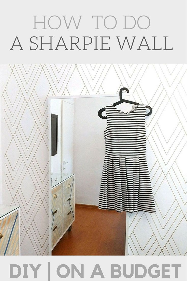 Accent wall   DIY faux wallpaper project   cheap and quick ...