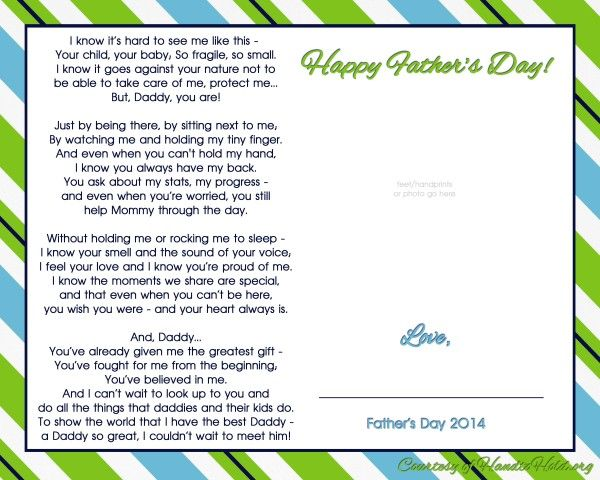 Remember Dad On Father S Day With This Free Printable From