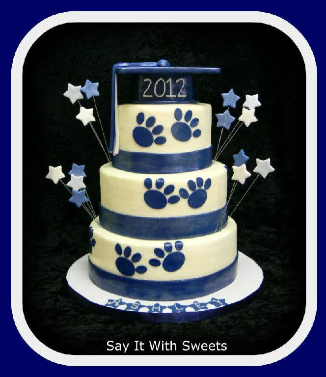 Penn State Graduation Cake With Images Graduation Cakes