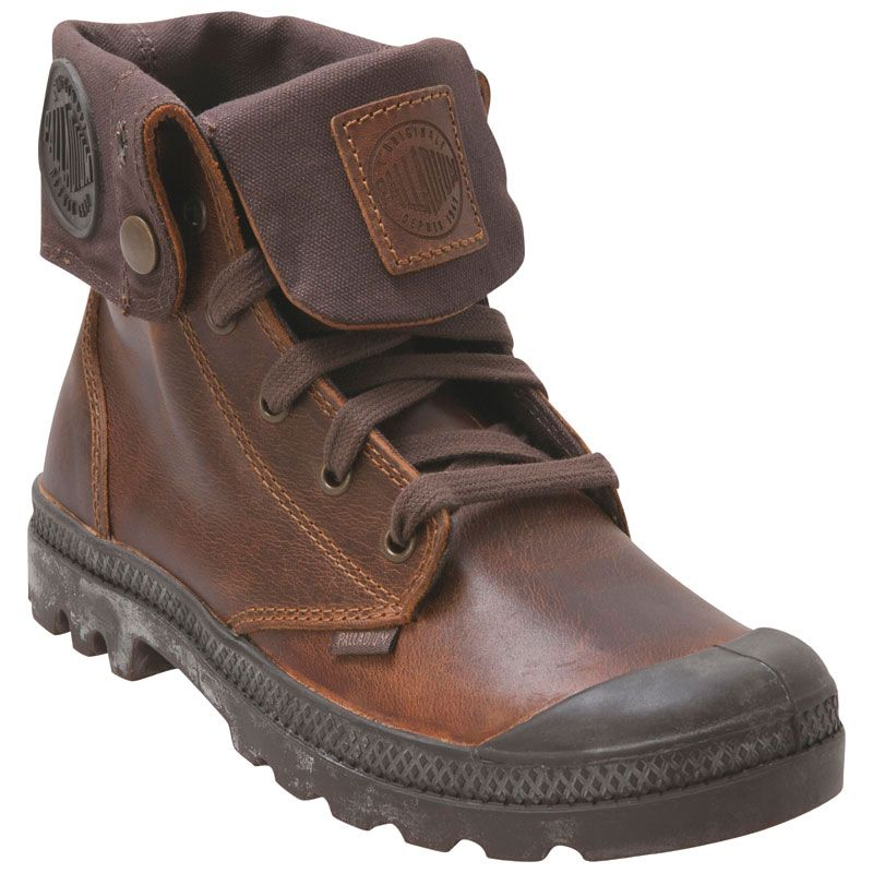 Palladium Womens Baggy Leather Sunrise Chocolate LaceUp Boot Infinity Shoes