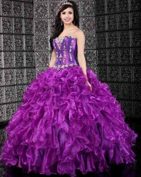 Consider The Concept Of Dominance For Purple Wedding Gowns