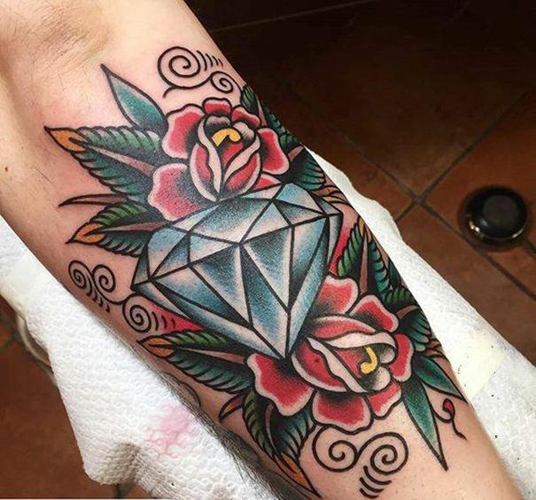 old school diamond tattoo   ink   pinterest   tattoos, traditional