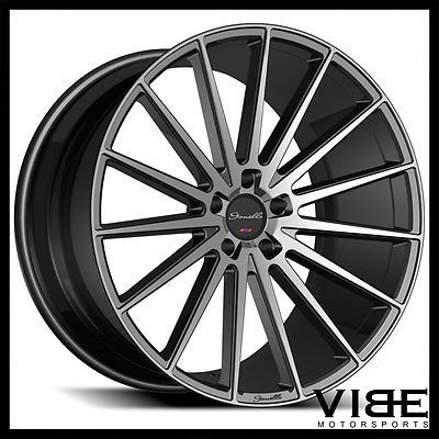 22 Gianelle Verdi Black Smoked Concave Wheels Rims Fits Dodge