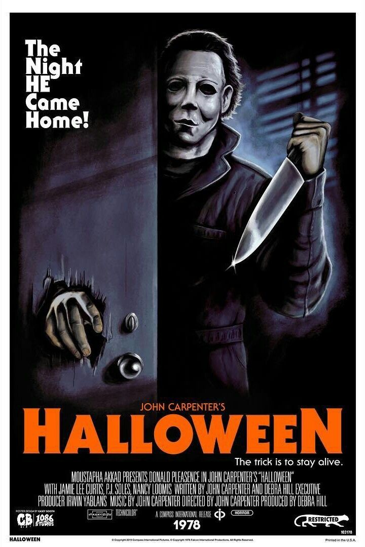 Halloween (1978) John carpenter halloween, Horror movie