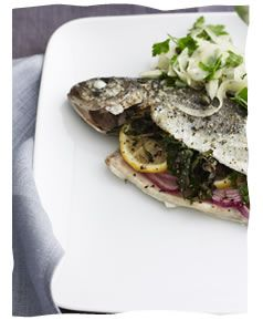 Mediterranean Baked Trout with Fennel Salad - Heart Healthy Grilling - Kosher Recipes & Cooking