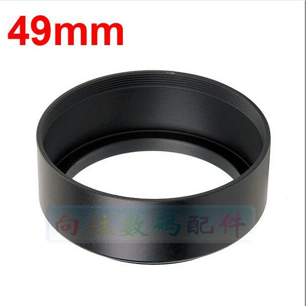 metal black 49mm standardowa osłona obiektywu canon nikon s0ny
