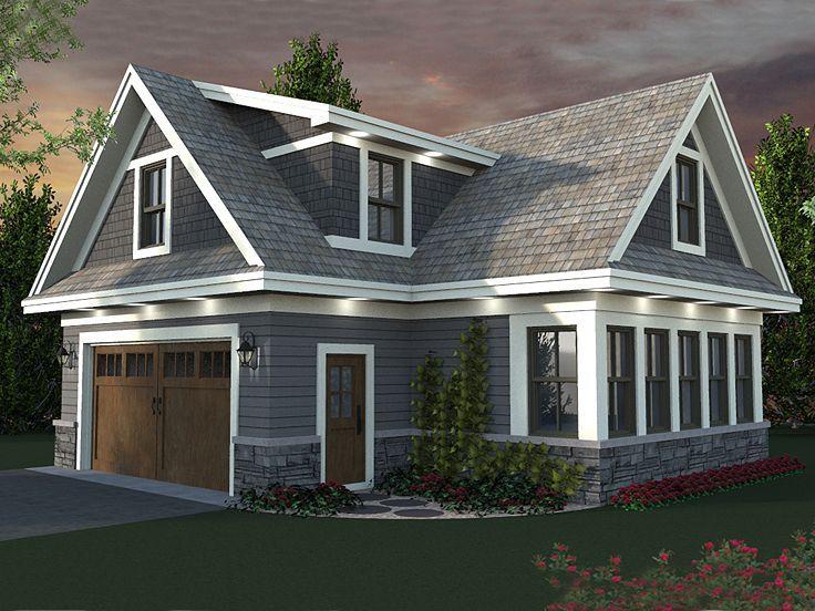 023G-0003: 2-Car Garage Apartment Plan With Craftsman