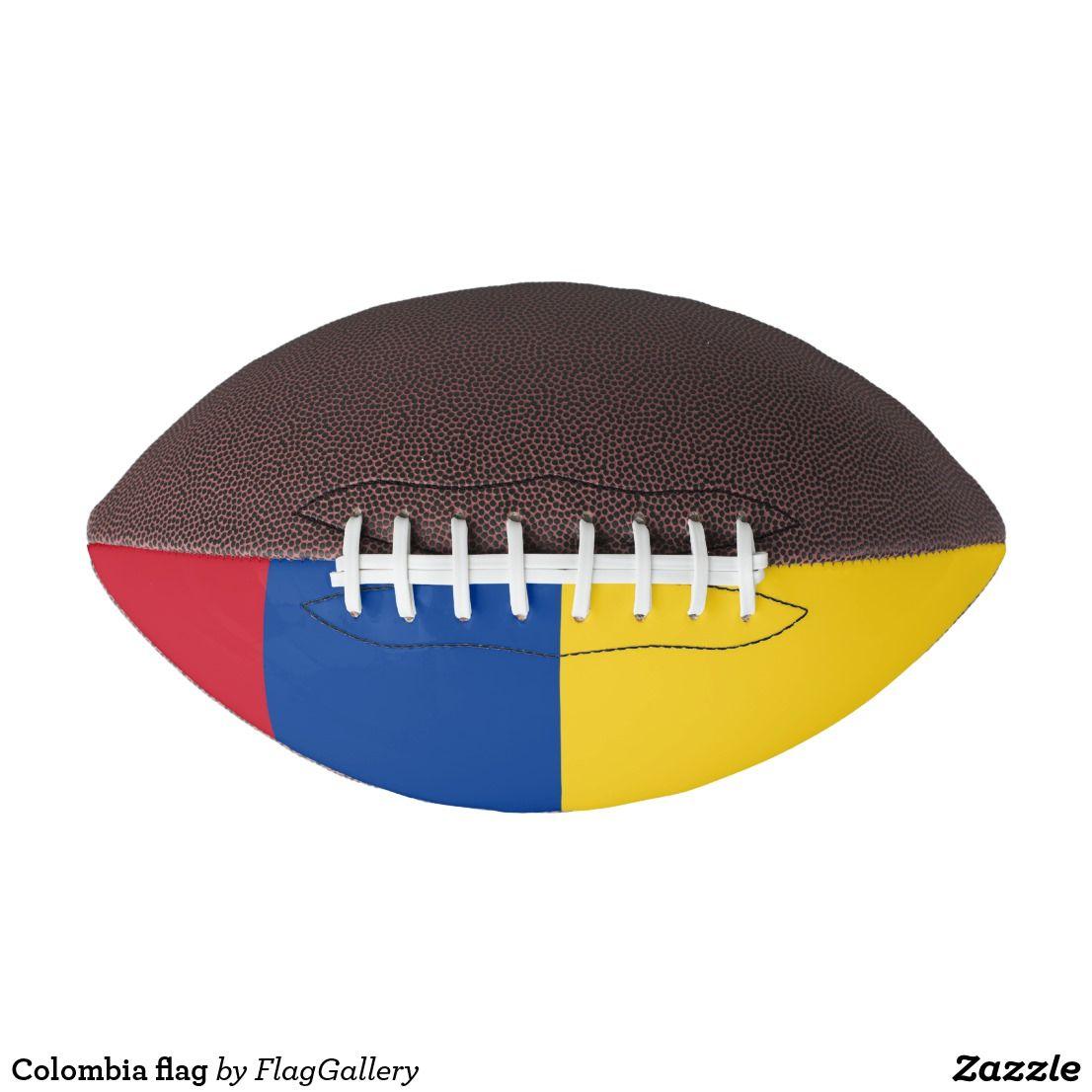 Colombia Flag Football Zazzle Com Colombia Flag Flag Football Colombian Flag