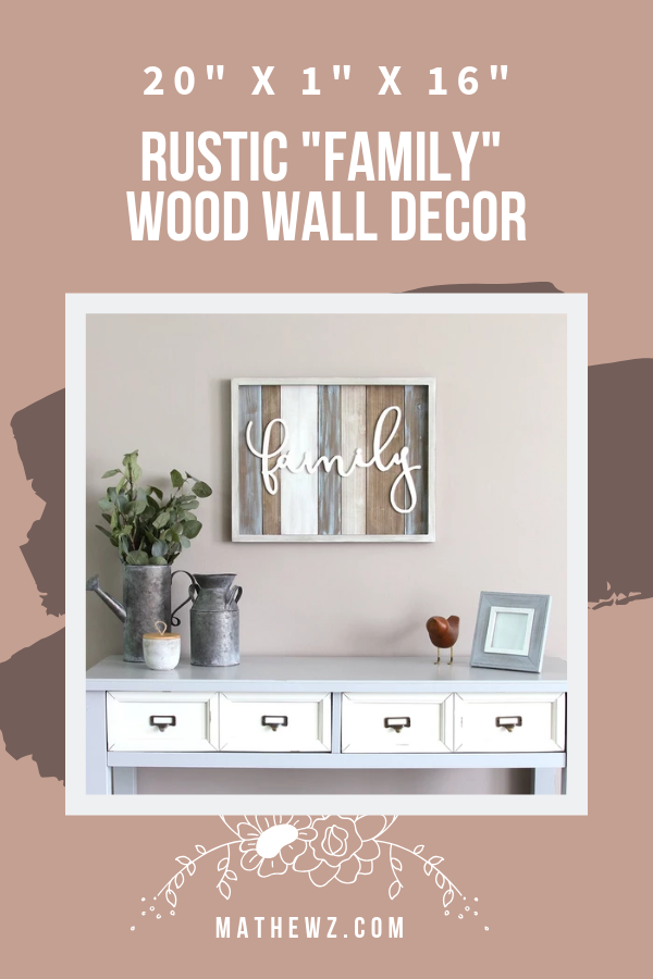 Add A Rustic Accent To Your Home With This Unique Wooden Wall Decor Featuring Distressed W Wooden Wall Decor Metal Wall Art Living Room Interior Design Rustic