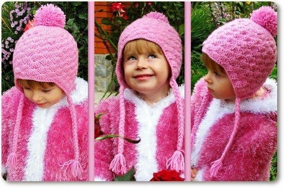 Patrón de gorro ganchillo para niña | bufandas | Pinterest | Para ...