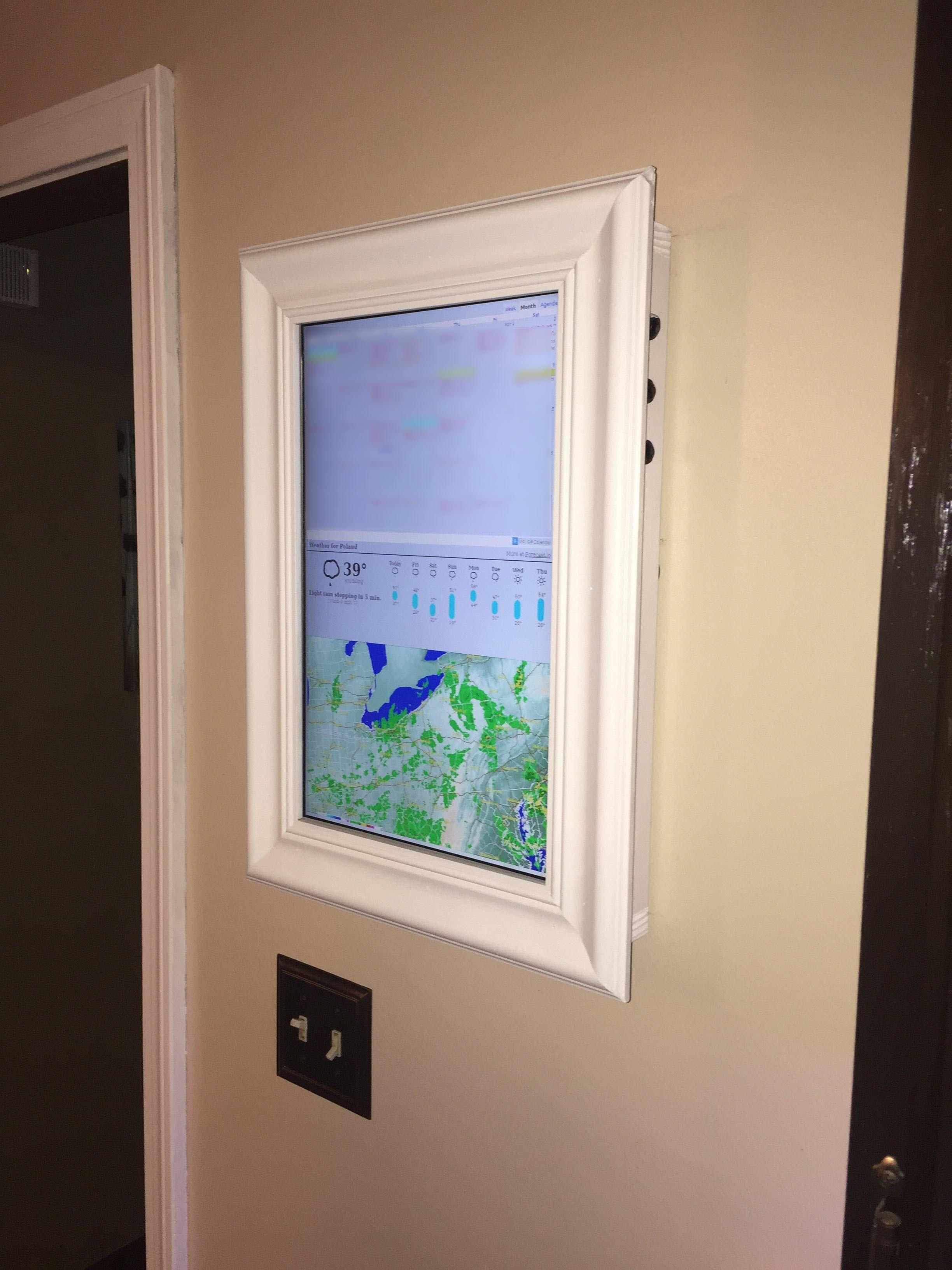 Raspberry Pi Framed Informational Display Google