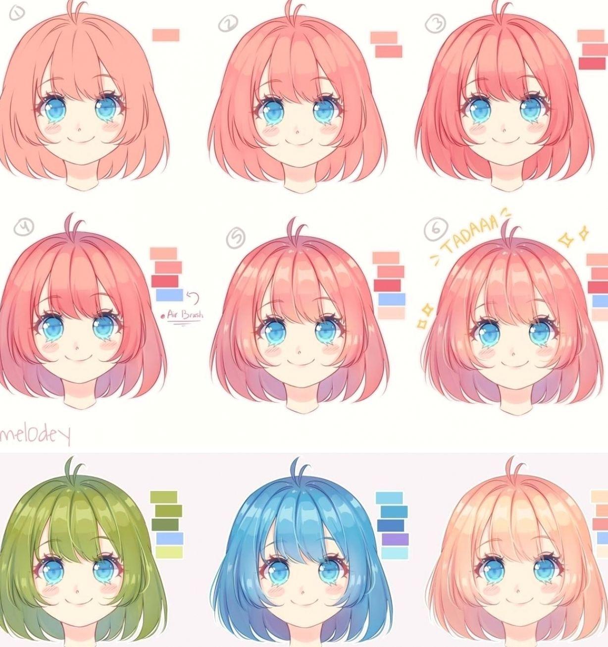 Photo of Hair tutorial by mel0des on DeviantArt