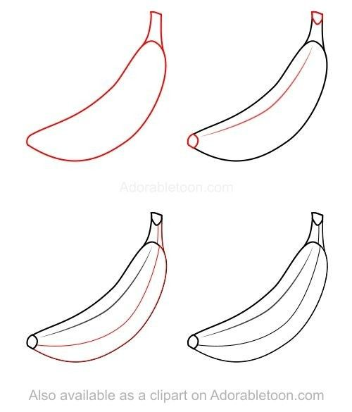 Pin By Tatiani Nunes On Art Fruits Drawing Flower Drawing Easy Drawings For Kids