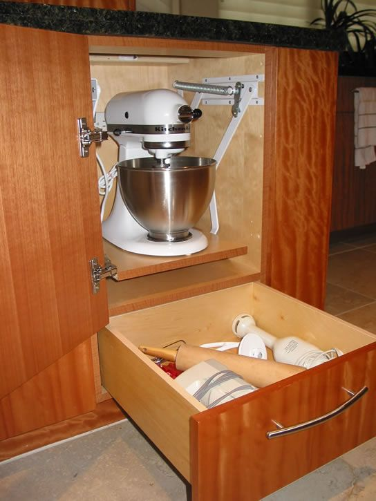 Cabinet Mixer Lift Feist Cabinets Woodworks