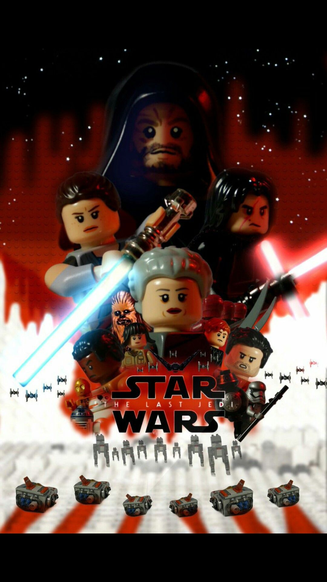 Lego star wars the last jedi fanmade poster the last
