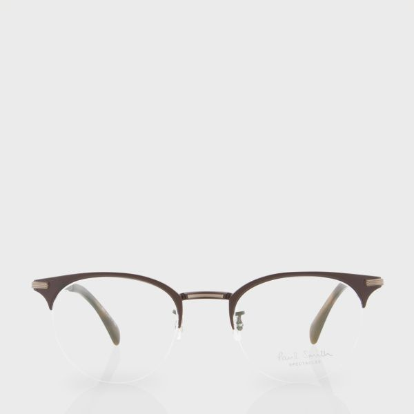 b779ba55f941 Paul Smith Matte Brown And Tortoiseshell  Ellidge  Spectacles