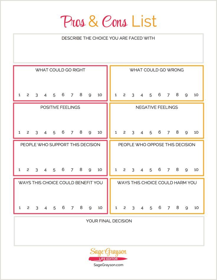 Image result for pros and cons worksheet Educational Therapy - job task analysis template