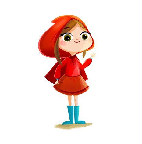 Little Red Riding Hood female kid character Cartoon Kid Characters Pinterest